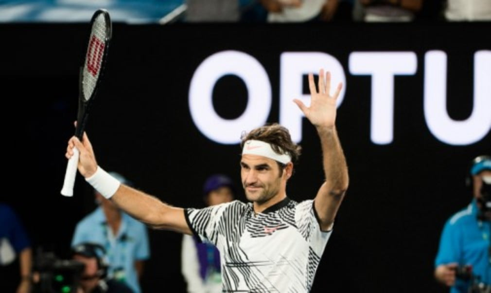 Roger Federer enjoyed a winning return to action as he reached the second round at the Australian Open with victory over Jurgen Melzer on Monday