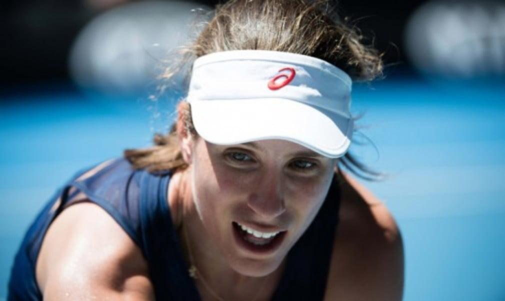 Johanna Konta is settling into the Grand Slam rhythm ahead of her second round clash against Naomi Osaka at the Australian Open