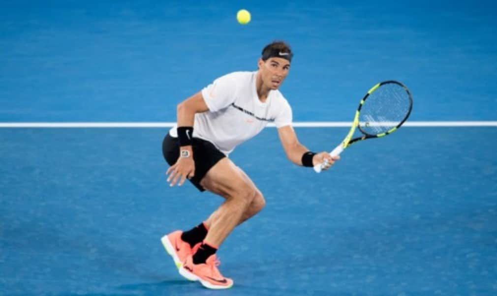 Rafael Nadal survived a spirited comeback from Gael Monfils to reach the Australian Open quarter-finals