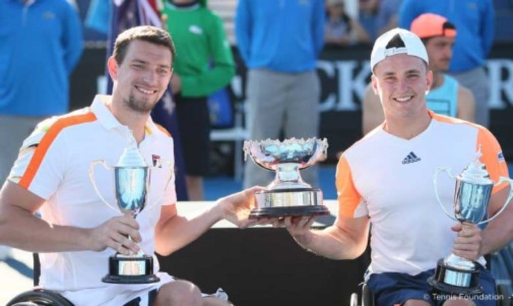 Gordon Reid completed a career Grand Slam of menŠ—Ès wheelchair doubles titles on Friday