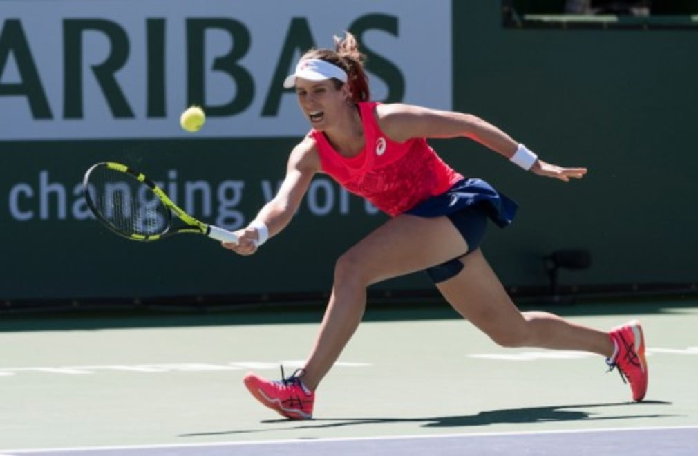 Johanna Konta said she didn't take her opportunities after she was beaten in a third set tiebreak by Caroline Garcia in Indian Wells