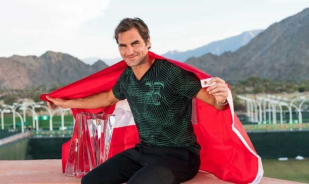 Roger Federer continued his remarkable comeback as he won a fifth BNP Paribas Open title at Indian Wells