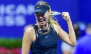 Maria Sharapova returned to the Grand Slam arena after a 19-month absence and scored an impressive 6-4 4-6 6-3 victory over Simona Halep