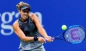 It was the last womenŠ—Ès quarter-final to be played and Madison Keys made it four Americans in the semi-finals