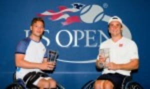 Gordon Reid and Alfie Hewett are the 2017 US Open men's Wheelchair Doubles champions after defeating No.1 seeds Stephane Houdet and Nicolas Peifer 7-5 6-4