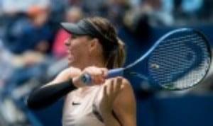 Maria Sharapova toasted her Australian Open return with 6-1 6-4 triumph over Tatjana Maria