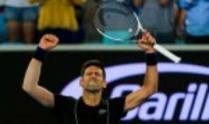Novak Djokovic made it through to the second week of the Australian Open for an 11th time after a thumping 6-2 6-3 6-3 win over Albert-Ramos-Vinolas