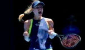 Angelique Kerber survived an almighty scare against Su-Wei Hsieh to set up a mouth-watering quarter-final clash with Madison Keys