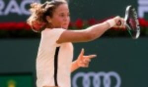 Daria Kasatkina demonstrated her title winning credentials by thrashing Angelique Kerber 6-0 6-2 in the quarter-finals of the BNP Paribas Open in Indian Wells
