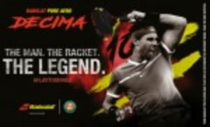 The Pure Aero is one of the most popular rackets around and this special cosmetic version is bound to appeal to serious players as well as Rafa fans