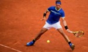 Rafael NadalŠ—Ès impressive start to the European clay-court season continued with a 6-1 6-3 success over Guillermo Garcia-Lopez at the Barcelona Open