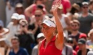 Caroline Wozniacki recovered from a precarious position to defeat Ashleigh Barty 6-2 4-6 6-4 and reach the last sixteen of the Mutua Madrid Open