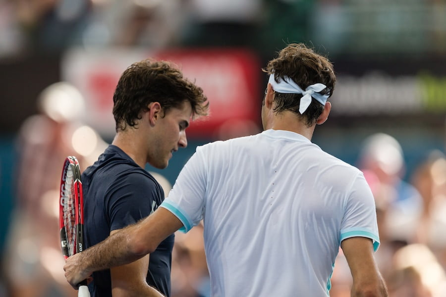 Roger Federer and Dominic Thiem
