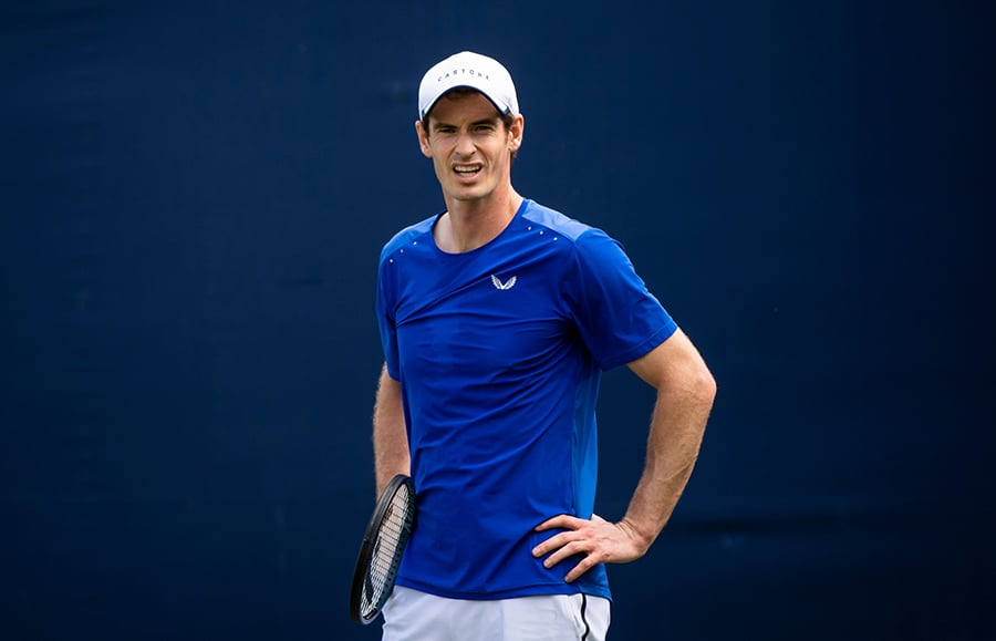 Andy Murray in training at Queens