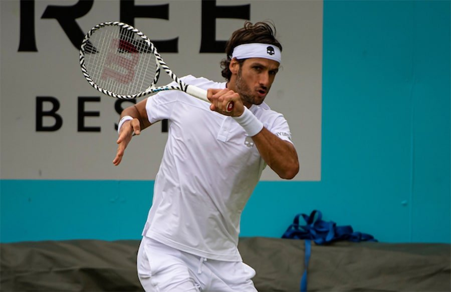 Feliciano Lopez in action at Queen's