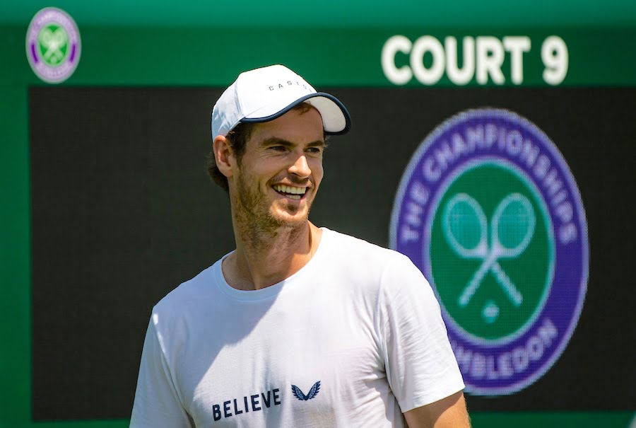 Andy Murray Wimbledon 2019 smiling