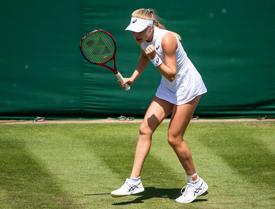 Harriet Dart lead the British charge at Wimbledon 2019 for a while