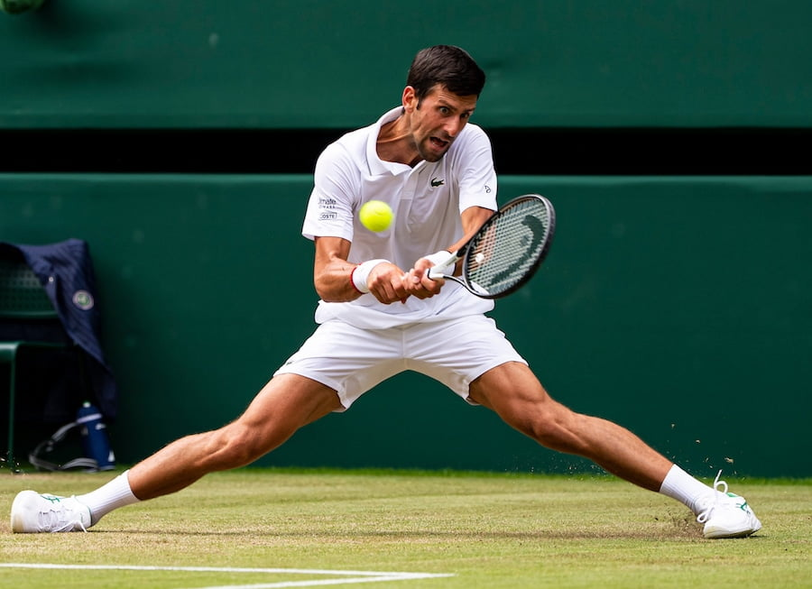 Novak Djokovic Wimbledon 2019 flexibility