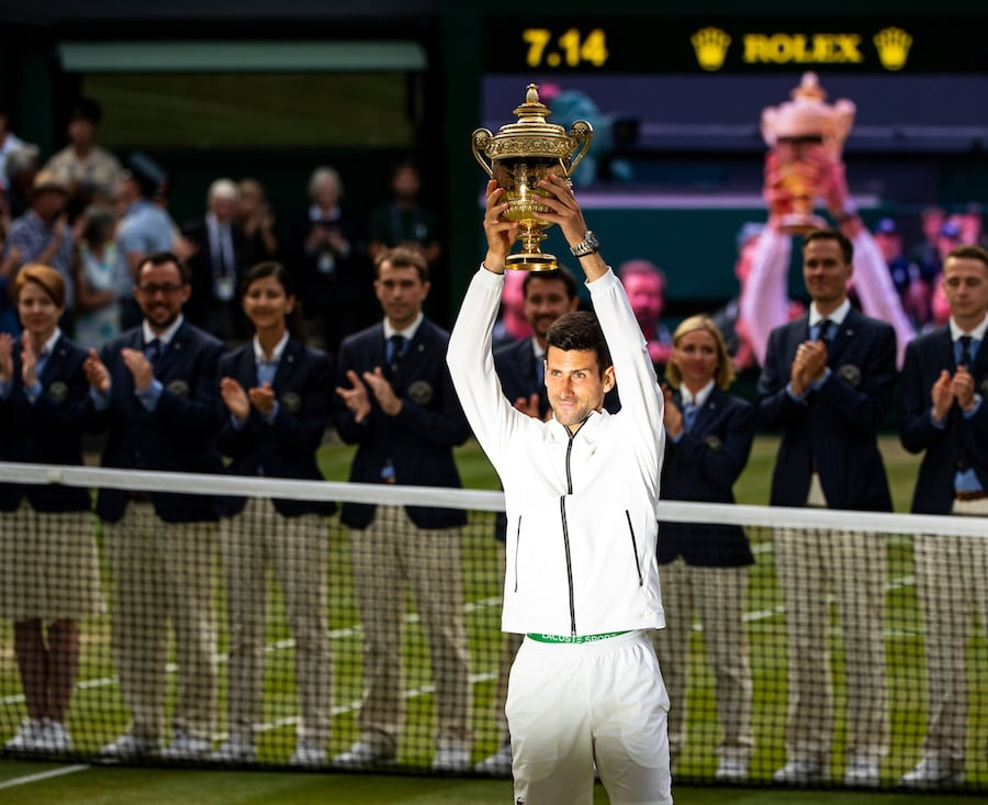 Novak Djokovic Wimbledon champion 2019