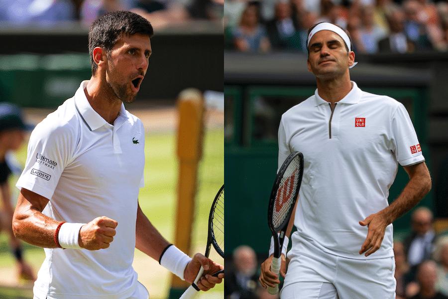 Federer Djokovic Wimbledon mens singles final 2019