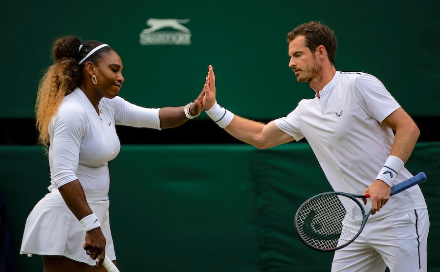 Andy Murray Serena Williams Wimbledon mixed doubles 2019