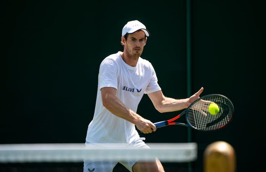 Andy Murray Wimbledon 2019 practise