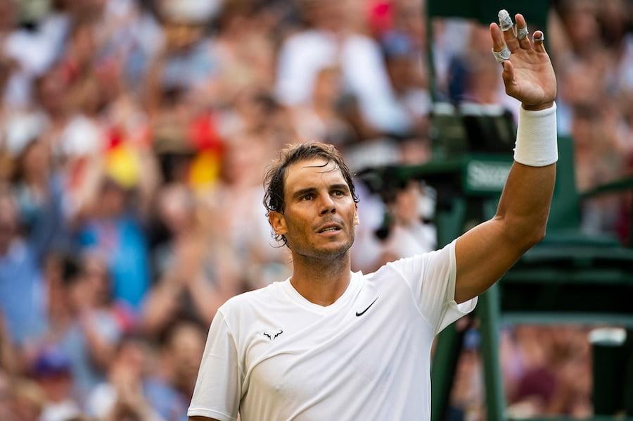 Rafa Nadal wins at Wimbledon 2019