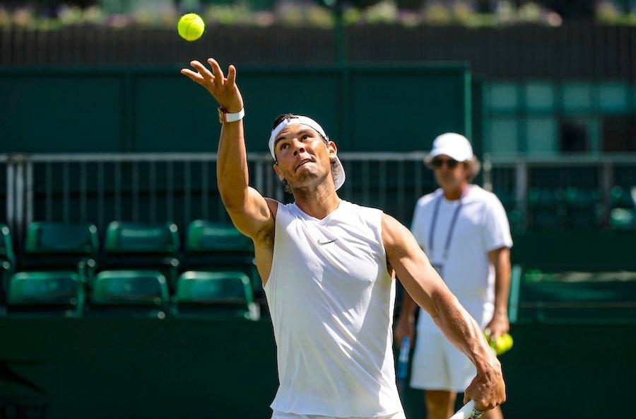 Rafa Nadal Wimbledon 2019 practises
