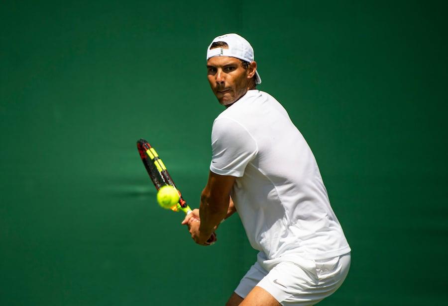 Rafael Nadal Wimbledon 2019 backhand