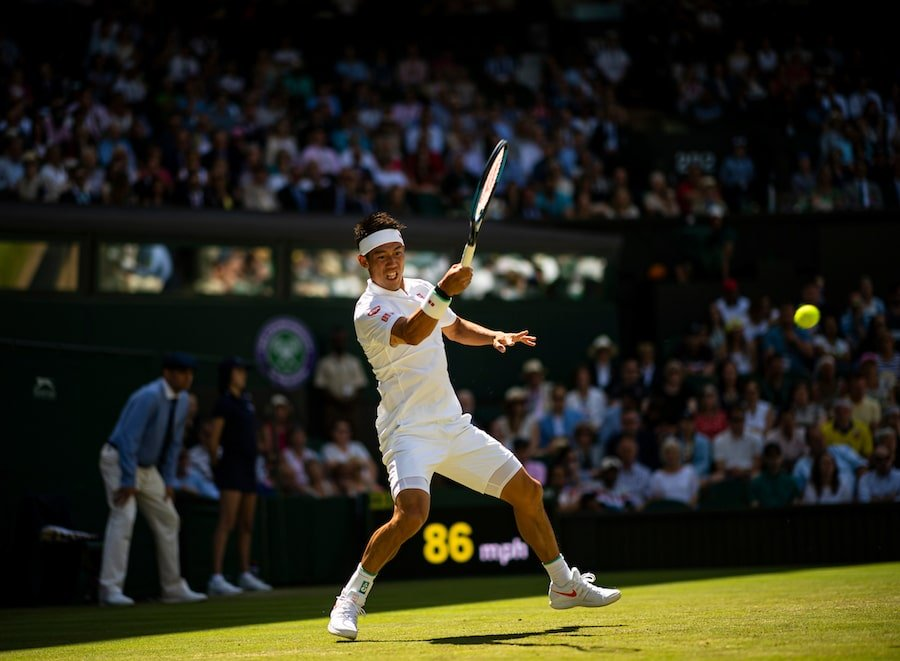 Kei Nishikori Wimbledon 2019