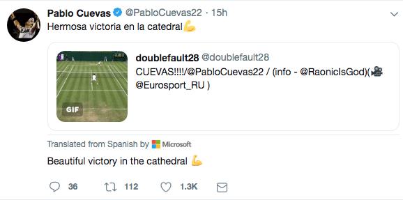 Pablo Cuevas twitter