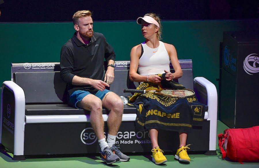 Svitolina and coach