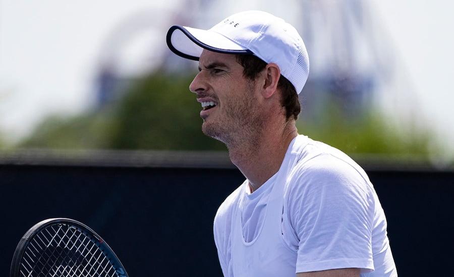 \Andy Murray at Cincinnati practice