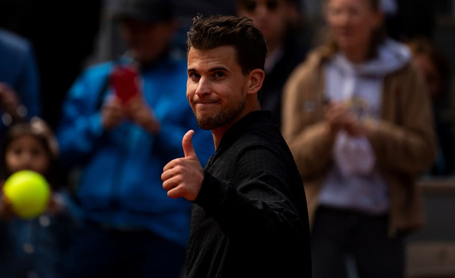 Dominic Thiem thumbs up