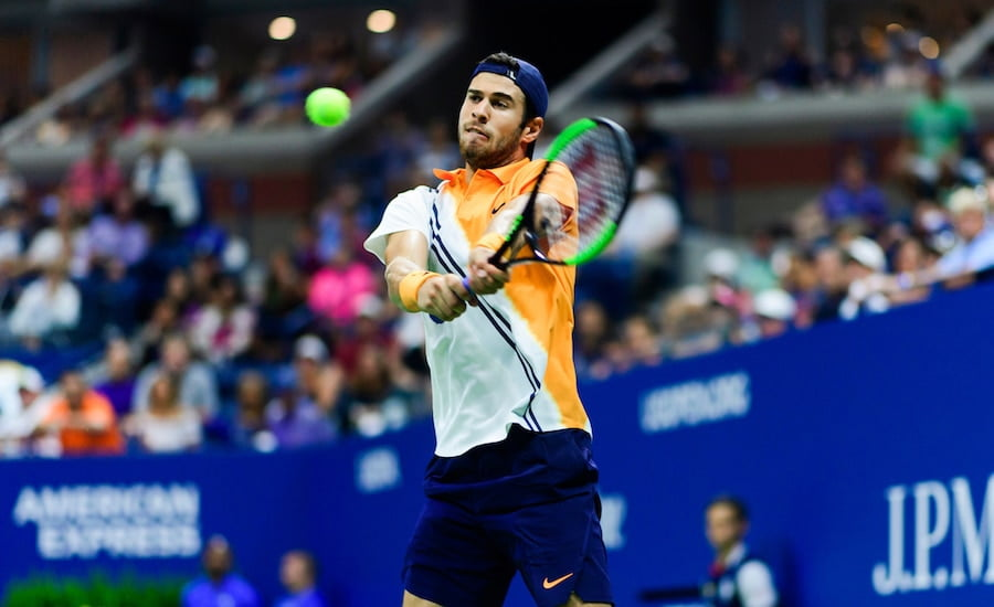 Karen Khachanov US Open backhand