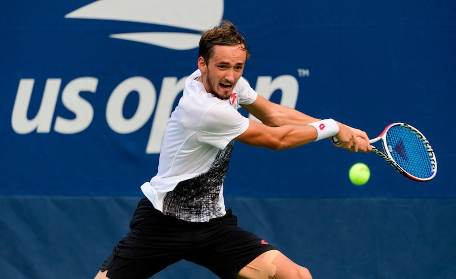 Daniil Medvedev US Open backhand