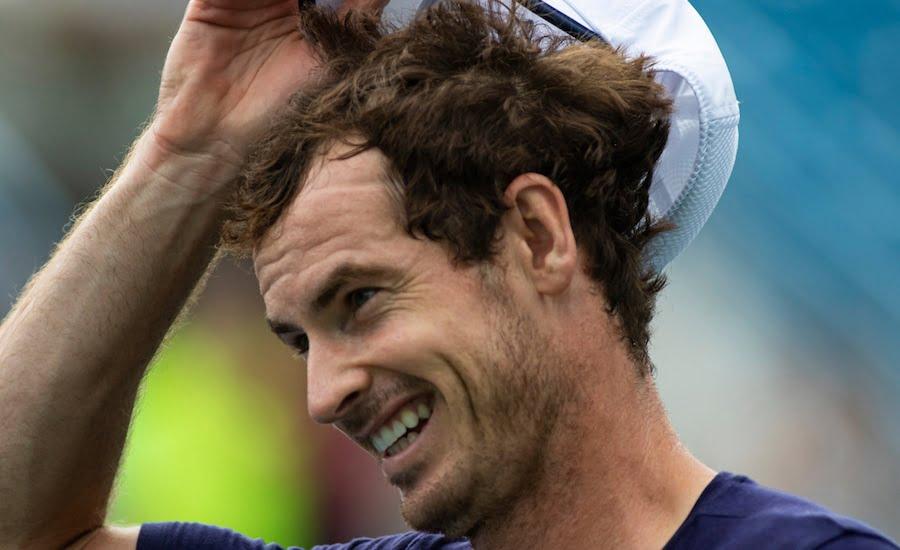 Andy Murray smiles in Cincinnati