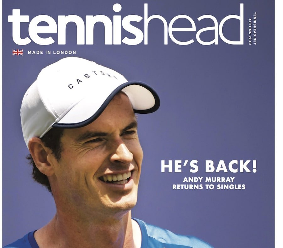 tennishead August 2019 front cover
