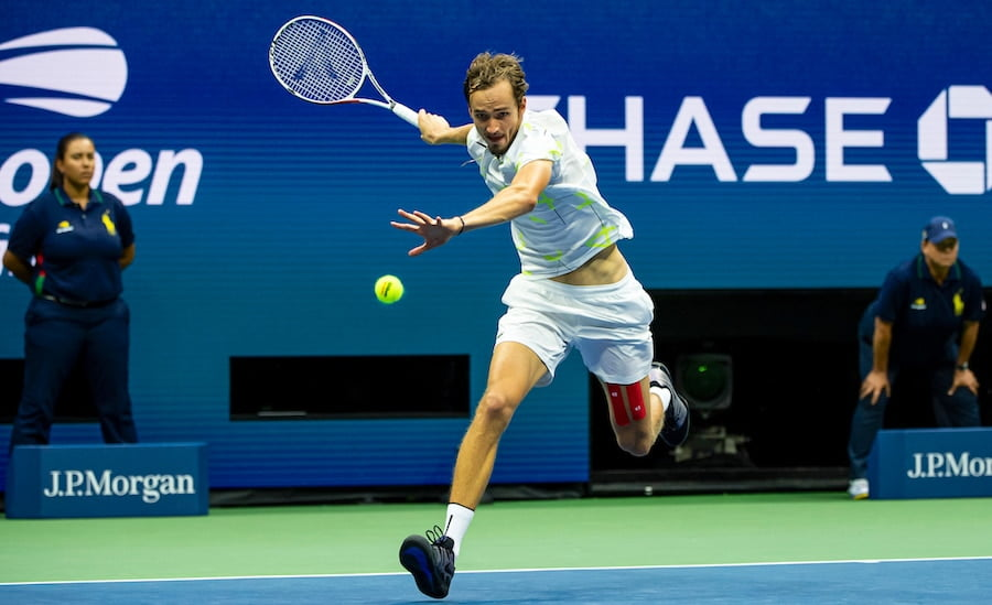 Daniil Medvedev running forehand US Open 2019