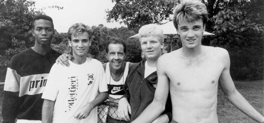 Nick Bollettieri with Jim Courier & Andre Agassi
