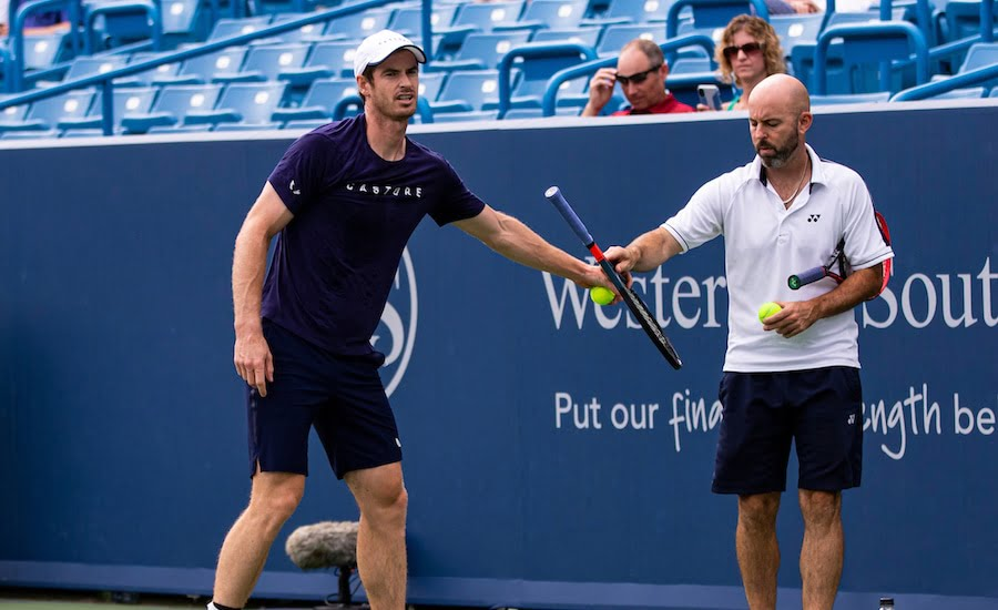 Andy Murray practises at Cincinnati 2019