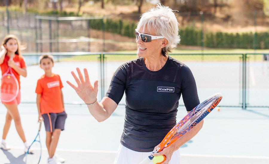 Judy Murray coaches at The Campus Portugal