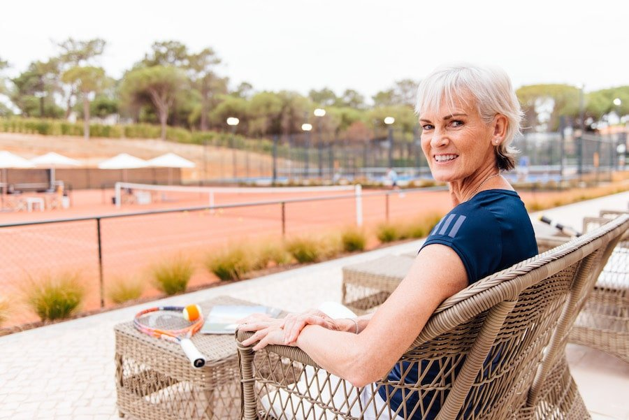 Judy Murray relaxes at The Campus in Portugal