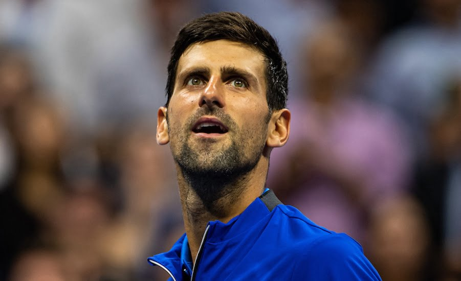 Novak Djokovic US Open 2019 smiles
