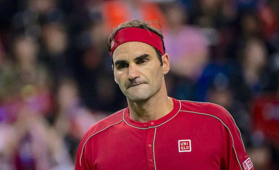 Roger Federer looks glum Shanghai 2019