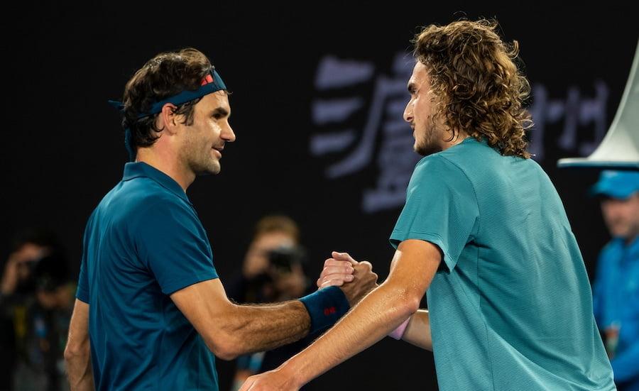 Stefanos Tsitsipas Roger Federer Australian Open 2019