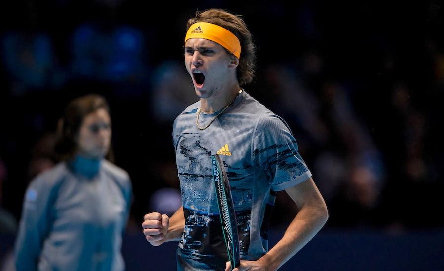 Alexander Zverev roars at ATP Finals 2019