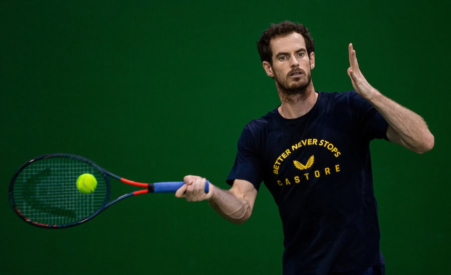 Andy Murray Shanghai 2019 forehand practise