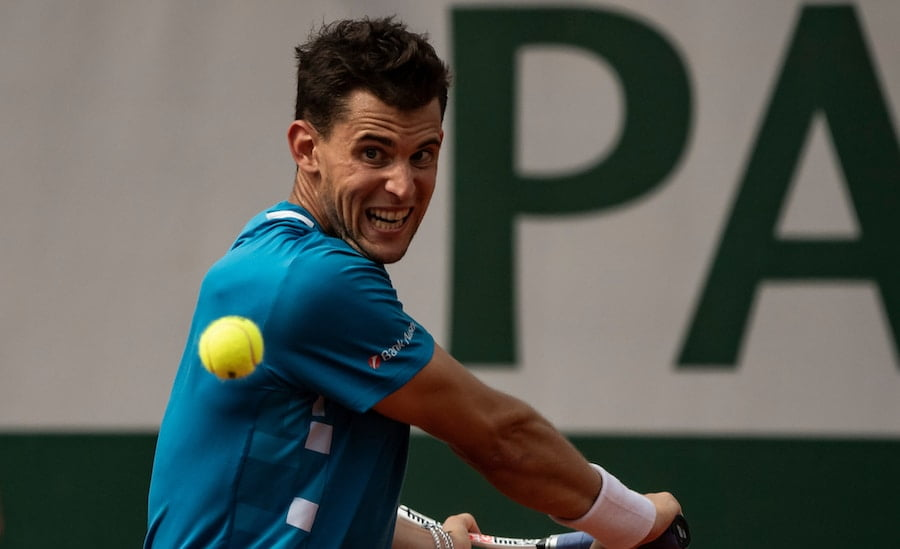 Dominic Thiem backhand Roland Garros 2019