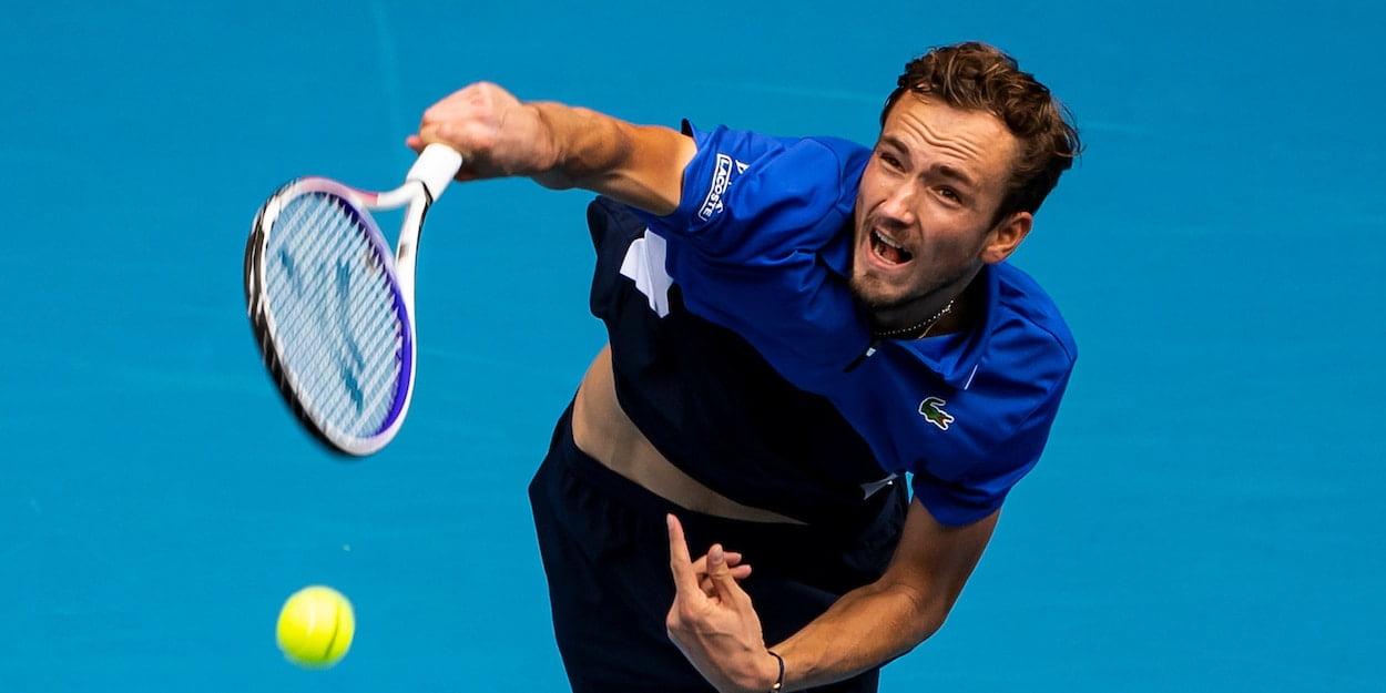 Daniil Medvedev at the Australian Open 2020